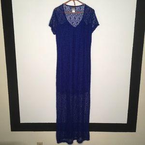 Tommy Bahama Crochet Cover Up Maxi Dress Size L